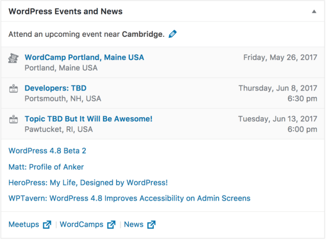 Nearby WordPress Events