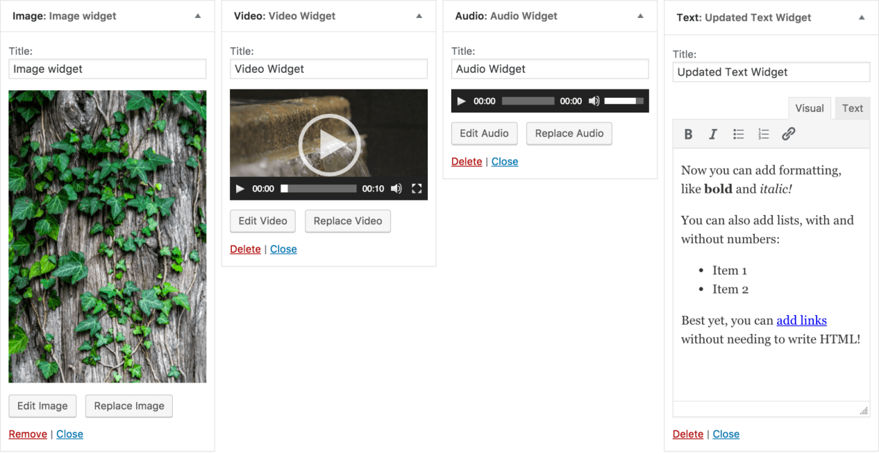 WordPress 4.8.3 | Exciting Widget Updates