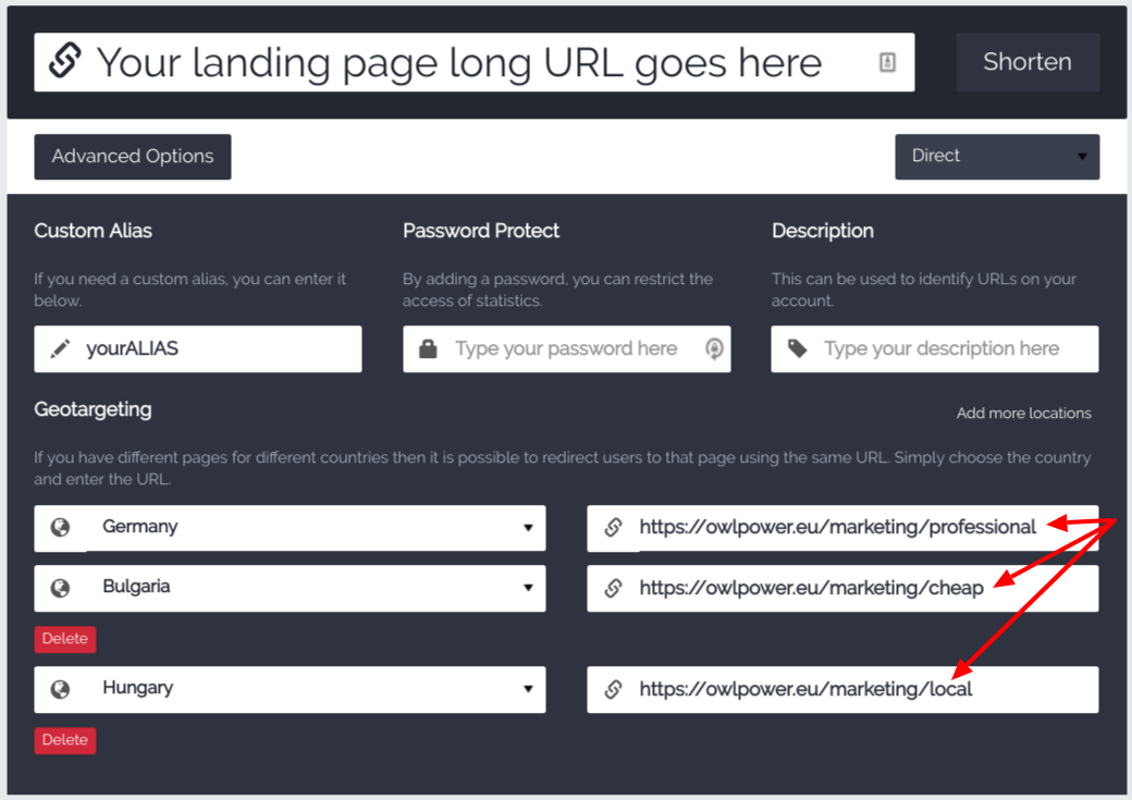 Feature of the week: Redirect Your Landing Page Visitors by Country