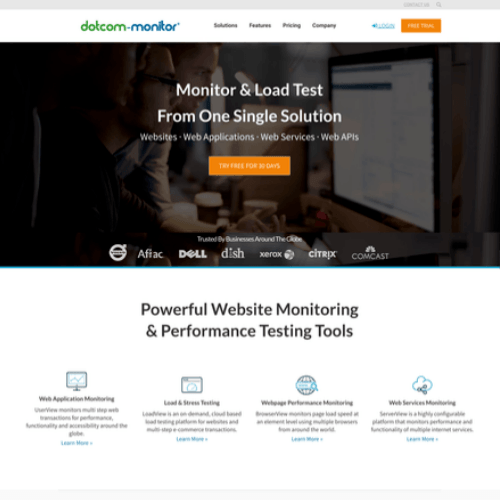 Dotcom-Monitor - Public Status Pages for your WordPress Monitoring