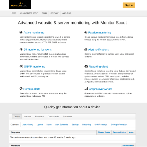 Monitor Scout - Public Status Pages for your WordPress Monitoring