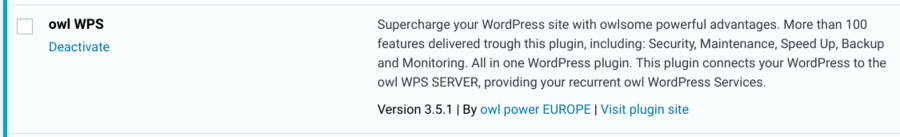 New Release - owl WPS 3.5.1 - WordPress Services plugin