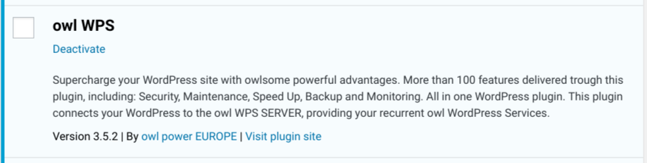 New Release - owl WPS 3.5.2 - WordPress Services plugin