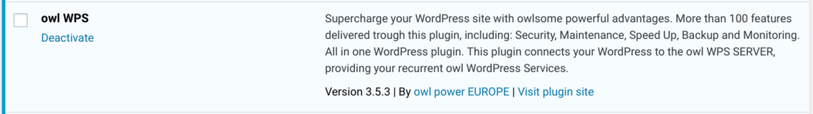 New Release - owl WPS 3.5.3 - WordPress Services plugin