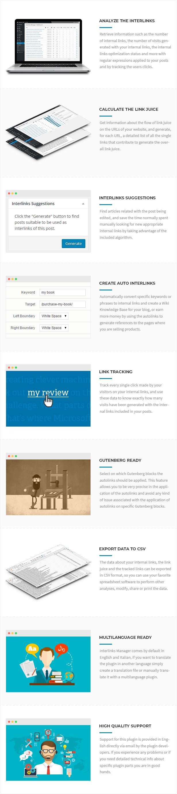 Interlinks Manager for WordPress