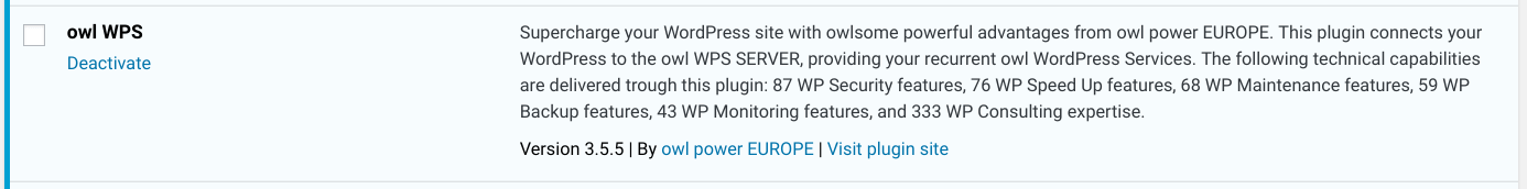 New Release: owl WPS 3.5.5 for recurrent WP Services