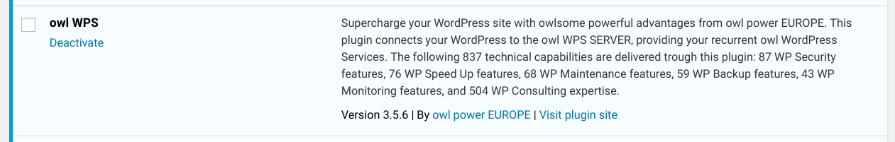New Release: owl WPS 3.5.6 for recurrent WP Services