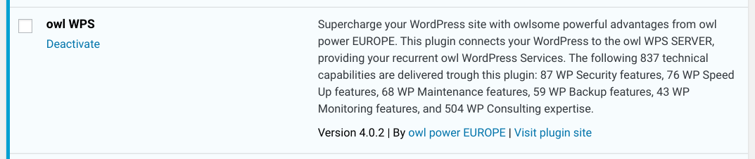 New Release: owl WPS 4.2 for recurrent WP Services