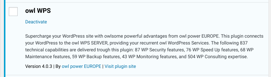 New Release: owl WPS 4.0.3 for recurrent WP Services